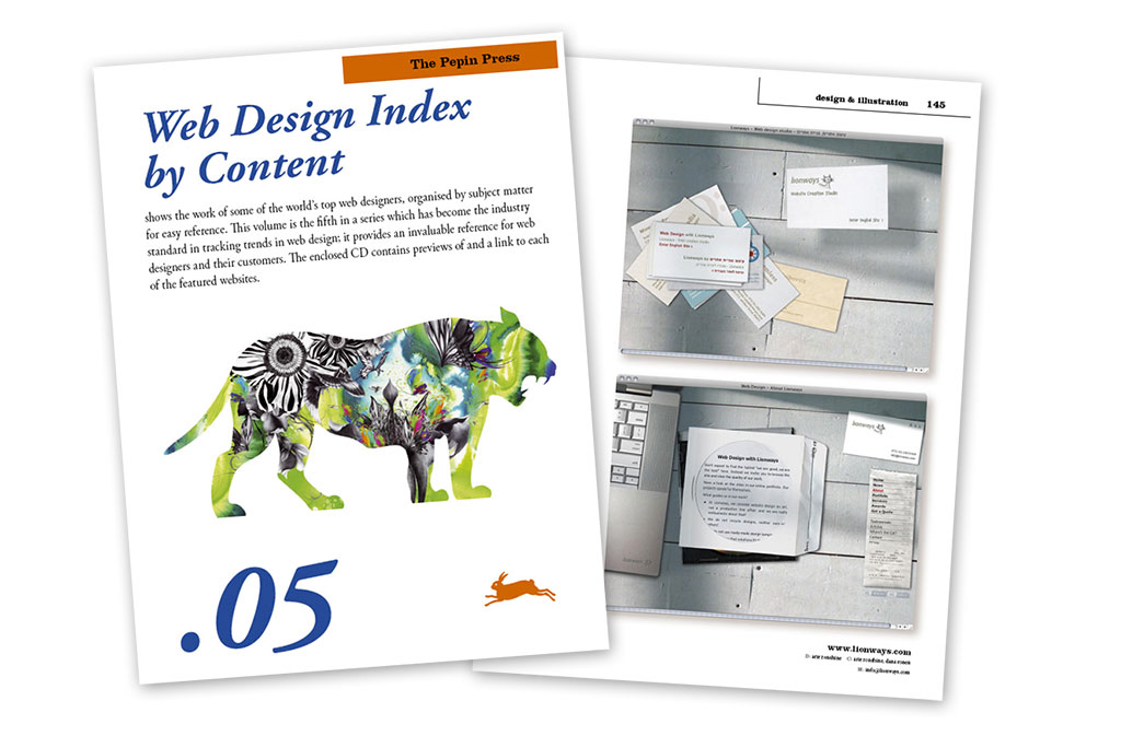 Lionways in Web Design Index book